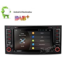 XTRONS Silver 7 Android 6.0 Quad Core Capacitive Touch Screen Car Stereo Radio DVD Player with Screen Mirroring Function OBD2 1080P for Volkswagen