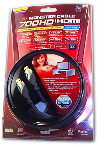 Monster MC 700 HD Advanced High Speed HDMI Cable – 2 M/ 6.
