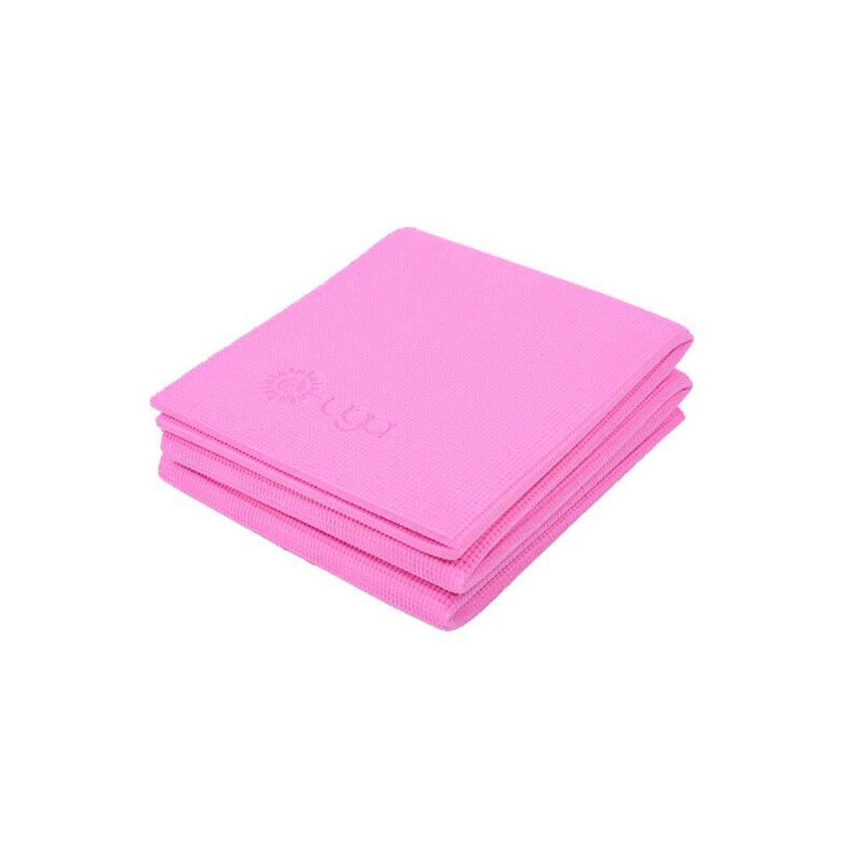 rose 8mm Xionghaizi Tapis de Yoga Pliable, PVC écologique, Tapis de Sport, Tapis de Yoga portable Professionnel pour Homme et Femme Rose 8mm Derniers modèles