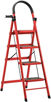 Suministros de construcción Un lado de hierro Escaleras de doble uso marco de la escalera de podar del jardín Escalera/Escalera práctica y dispone de estanterías for herramientas // Azul Verde Naran: Amazon.es: