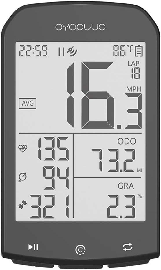 Fgyhty GPS para Bicicleta de Ordenador inalámbrico del Ritmo ...