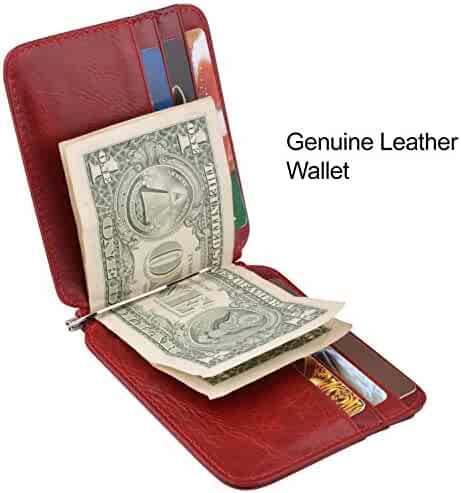 Maxgear Genuine Leather Credit Card Wallet Slim Leaher Wallet Card Holder Leather Card Organzier