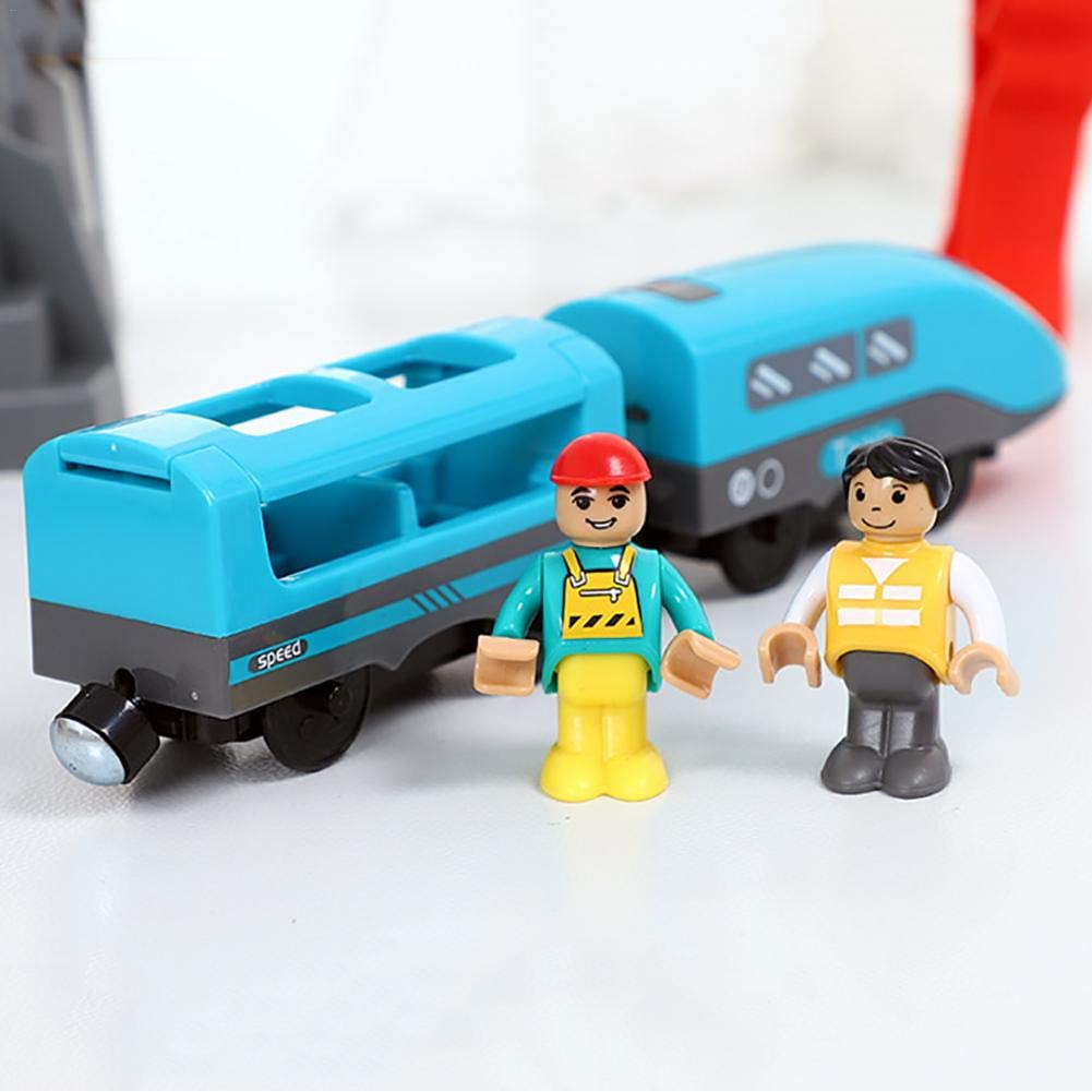 Battery Powered Train Toy For Kids Birthday Gift Compatible With Wooden Track rebirthesame Electric Toy Train With Voice Broadcast