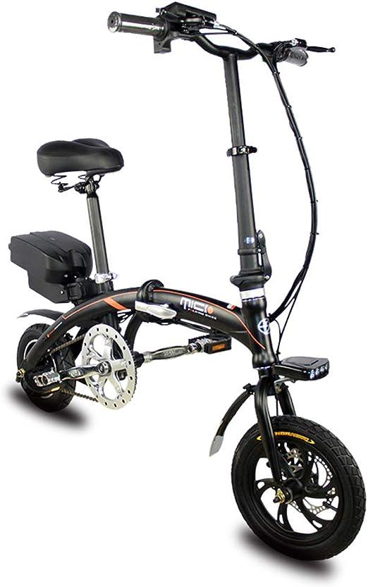 Scooter eléctrico 36V 7.8Ah Batería 250W Motor de alta potencia Velocidad máxima 25Km / H Bicicleta eléctrica plegable portátil Mini Batería de potencia Kilometraje del automóvil Hasta 20-30Km: Amazon.es: Hogar