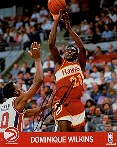 Dominique Wilkins Hand Signed Autographed 8x10 Photo Atlanta Hawks #21