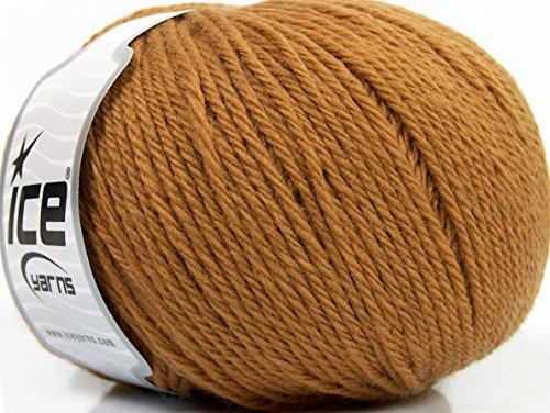 (Lot of 4 x 100gr Skeins ICE PURE WOOL (100% Wool) Yarn Light)