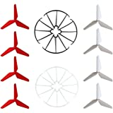 Hooray! Service 3-Blade 3-Leaf Upgrade Propellers & Prop Guards for Syma X5C-1 X5A X5C X5SC X5SW JJRC H5C H31 RC Quadcopter