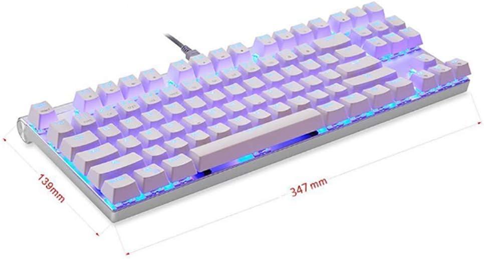 WYP Clavier mécanique 87 clés Ligne de Couleur Machine de séparation commutateur de Jeu Clavier de Bureau Tablette Autocollants Russes B