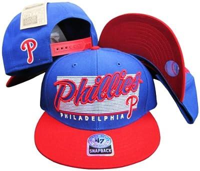 Philadelphia Phillies Two Tone Plastic Snapback Adjustable Plastic Snap Back Hat / Cap