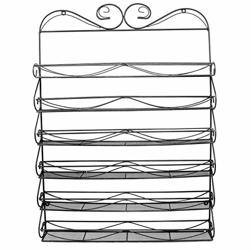 Sorbus 6 Tier Nail Polish Rack & Multi-Purpose Wall Organizer Display - Metal Vintage Style Mountable Shelf Holds at Least 72 Nail Polishes - Great for Home, Business, Salon, Spa, and More by Sorbus (Image #3)