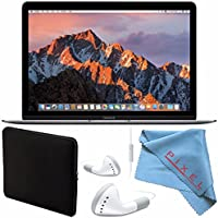 ThePixelConnection Apple 12 MacBook (Mid 2017 Space Gray) 512GB SSD #MNYG2LL/A + More Bundle
