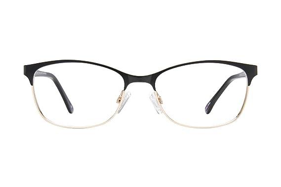 Lunettos Riley Womens Eyeglass Frames - Matte Black/Gold at Amazon ...