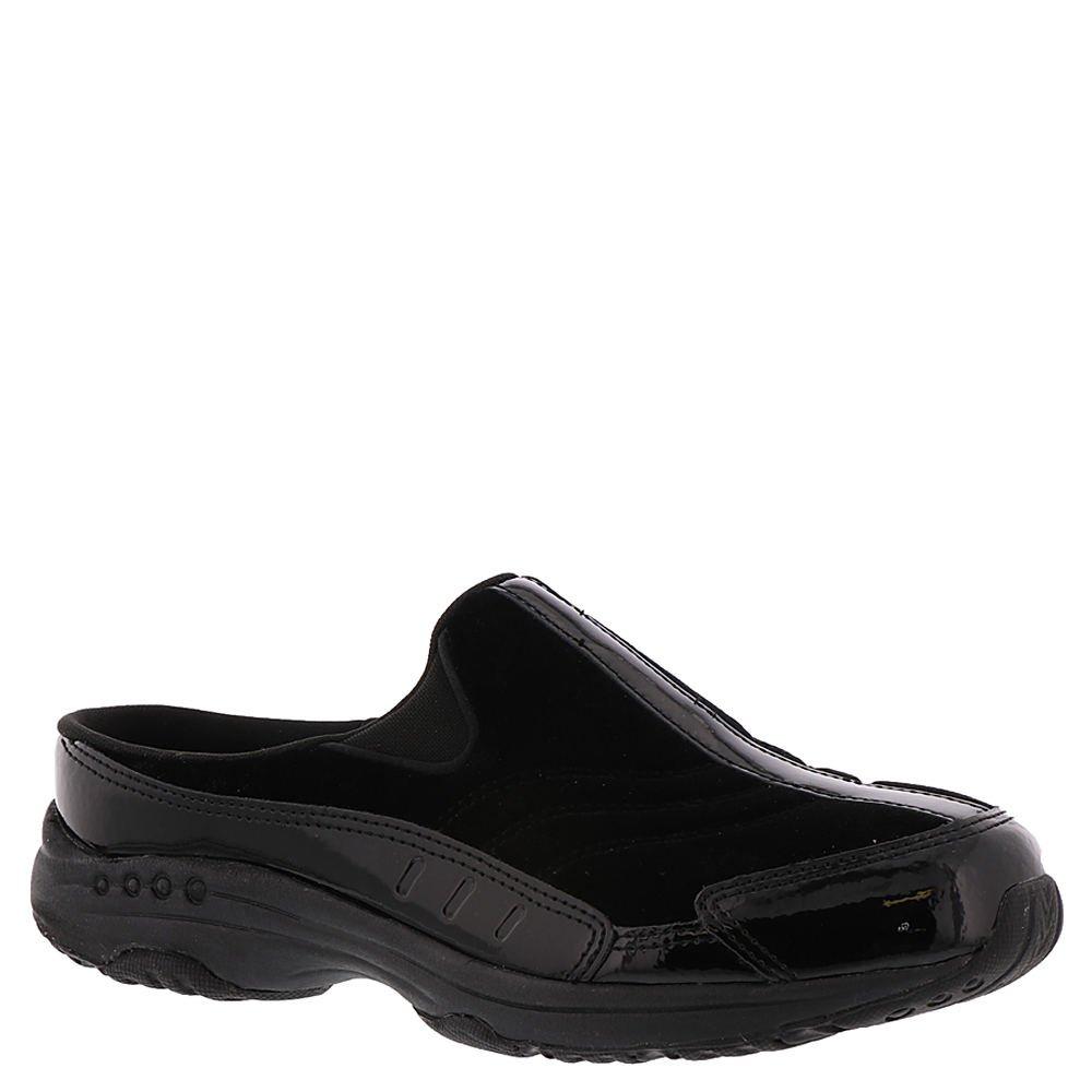 Easy Spirit Travel Time Women's Slip On 10.5 B(M) US Black-Velvet-Patent by Easy Spirit