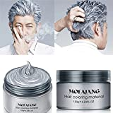HailiCare Silver Grey Hair Wax 4.23 oz, Professional Hair Pomades, Natural Silver Ash Matte Hairstyle Max for Men Women