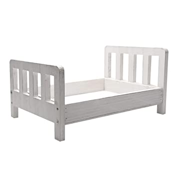 Wooden Posing Bed Nursery Decor Baby Toddler Photo Shoots Wood Cradle Photo Prop COLORS Newborn Bed Photography Prop Doll Bed