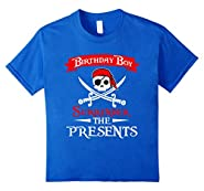Kids Funny Surrender The Presents T-Shirt For Pirate Birthday Boy