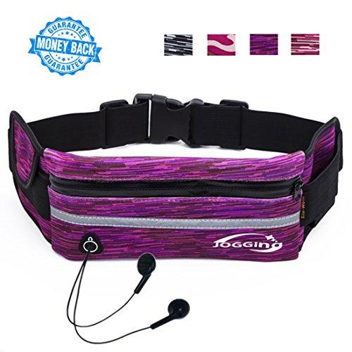 Sport Runner Zipper Waist Bag Running Belt Pouch Black - 6