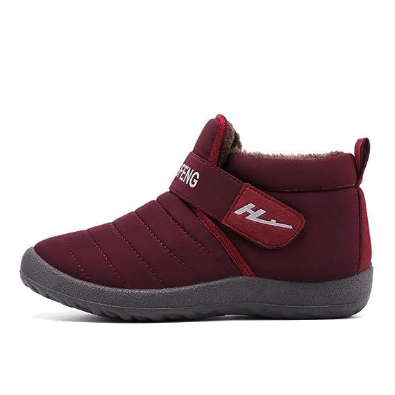 Zapatos de Invierno Hombre C/álido Forrado de Felpa Botas de Algod/ón Botines Antideslizante Zapatos de Deportes Casuales Slip-On Zapatos Planos