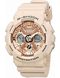 Women's 'G SHOCK' Quartz Stainless Steel and Resin Casual Watch, Color:Pink (Model: GMA-S120MF-4ACR)