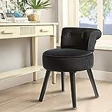 Vanity Stool Chair Modern Velvet Makeup Dressing