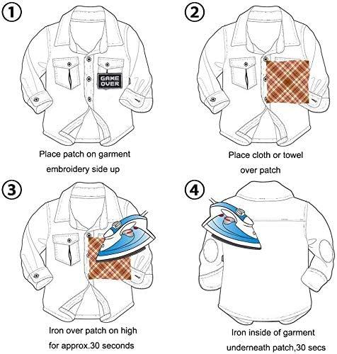 ropa bolsos Parche bordado para chaquetas zapatos gorras para ni/ños y adultos 18 Piezas Parches de superh/éroe
