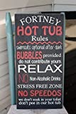 "Hot Tub Rules Wall Sign, Personalized, Wooden Sign, Hand Painted, Home Decor, Outdoor sign, pool sign, gift, outdoor decor, funny home accents 12x24"" Made to order, just for you."