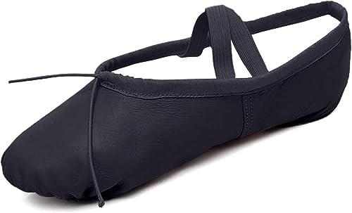 DoGeek Black Ballet Shoes Women Men