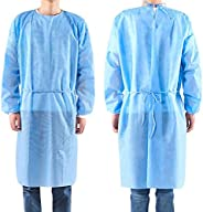 50 Pack Disposable Isolation Gowns, Medical Isolation Gowns Protective Suit, Indoor Outdoor Safety Personal Co
