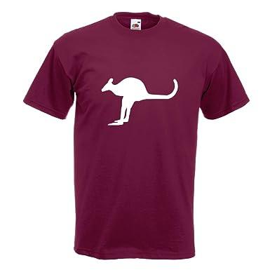 KIWISTAR - Känguru Kangaroo Beuteltier T-Shirt in 15 verschiedenen Farben - Herren  Funshirt bedruckt