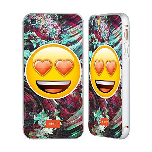 Officiel Emoji Oeil Du Coeur Solos Argent Étui Coque Aluminium Bumper Slider pour Apple iPhone 5 / 5s / SE