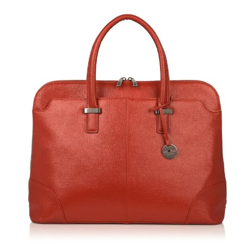 Terra Cotta Fabric Handbags - Knomo Berkeley 10-208 Briefcase,Terracotta,One Size