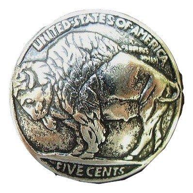 Replica Nickels - Buffalo Nickel Buttons Metal 15mm 9/16