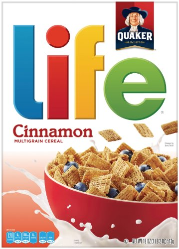Quaker Life Cereal, Cinnamon, 18 Ounce - Honey Bunches Of Oats Cinnamon