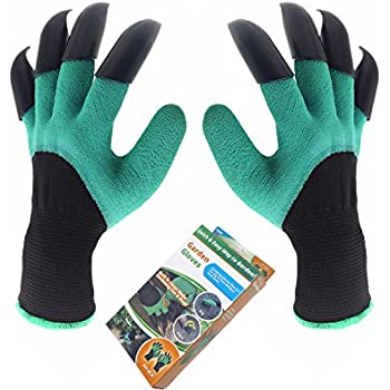 Garden genie gloves inf way both hand claws for Gardening gloves amazon