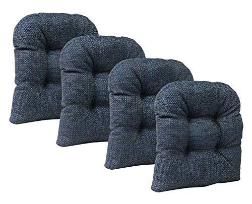 - Klear Vu Tyson Gripper Universal Non-Slip Overstuffed Dining Chair Cushion, 4 Pack, Navy