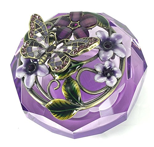 Welforth Purple Crystal Butterfly Trinket product image