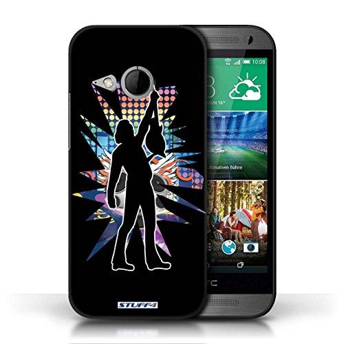 Etui / Coque pour HTC One/1 Mini 2 / Atteindre Noir conception / Collection de Rock Star Pose