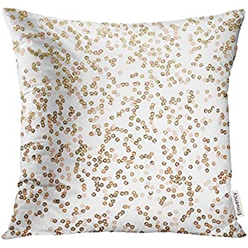 Amazon.com: Golee Throw Pillow Cover Gold Sequins Golden