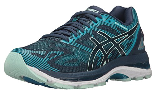 ASICS Women's Gel-Nimbus 19 Running-Shoes, Insignia Blue/Glacier Sea/Crystal Blue, 8.5 Medium US by ASICS