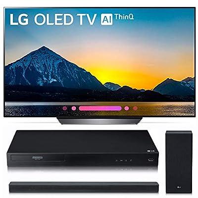 LG Electronics OLED65B8PUA 65-Inch 4K Ultra HD Smart OLED TV (2018 Model) Bundle with LG UBK80 4K and LG SK6Y 2.1