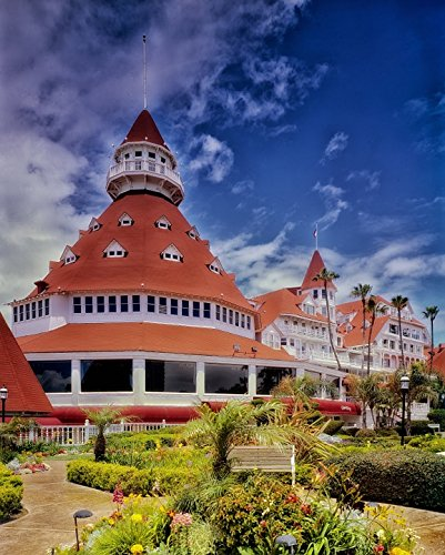Peel-n-Stick Poster of San Diego Hotel Del Coronado California Lodging Poster 24x16 Adhesive Sticker Poster Print