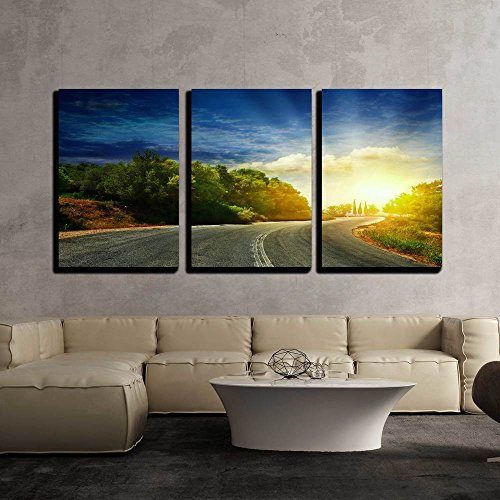 the Road in the Mountains to the Sea x3 Panels