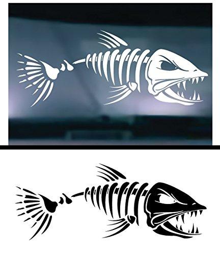 Skeleton Bone Fish 001 Vinyl Graphic Decal Sticker for Vehicle Car Truck Window Laptop Cooler Planner Locker