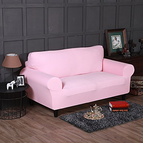Amazon.com: FORCHEER Loveseat Couch Covers for 2 Cushion Couch Sofa ...