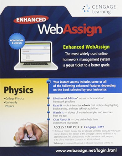 Enhanced WebAssign College Physics Access Card (One Term