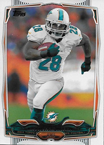 2014 Topps Football #305 Knowshon Moreno Miami Dolphins Official NFL Trading Card