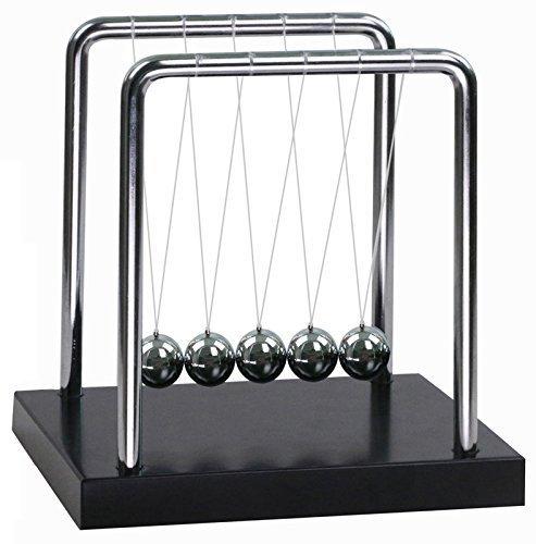 Classico Newton Cradle Balance Balls Scienza Psicologia Scrivania Giocattolo - Secondi Swing Newton'S Cradle Large Balance Ball Pendolo Desk Toy Gadget Per Bambini E Decorazione Ufficio