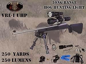 """VRL-1 """"ultimate package"""" Green and Red Led's, varmint light, varmint hunting light, hog light, coyote hunting light, Fox hunting light, hunting light"""