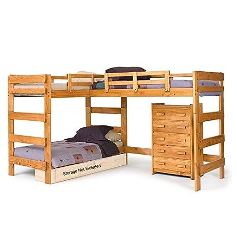 Chelsea Home Furniture 3662008 L Shaped Loft Bed, ...