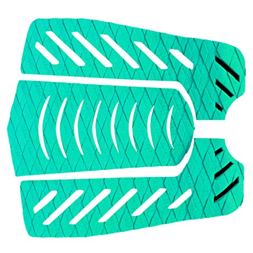 Jili Online 1 set of 3pcs Ultra-light Anti-Slip EVA Surfboard Traction Pads Tail Pads Deck Grips 11.8 x 11.8 Inch - green